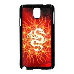 Wonderful Golden Dragon On Red Vintage Background Samsung Galaxy Note 3 Neo Hardshell Case (black) by FantasyWorld7