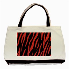 Skin3 Black Marble & Red Colored Pencil (r) Basic Tote Bag by trendistuff