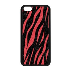 Skin3 Black Marble & Red Colored Pencil (r) Apple Iphone 5c Seamless Case (black) by trendistuff