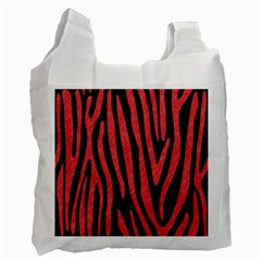 Skin4 Black Marble & Red Colored Pencil Recycle Bag (one Side) by trendistuff