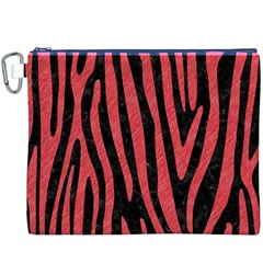 Skin4 Black Marble & Red Colored Pencil Canvas Cosmetic Bag (xxxl) by trendistuff