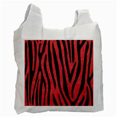 Skin4 Black Marble & Red Colored Pencil (r) Recycle Bag (one Side) by trendistuff
