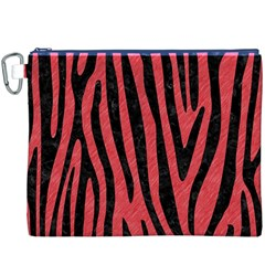 Skin4 Black Marble & Red Colored Pencil (r) Canvas Cosmetic Bag (xxxl) by trendistuff