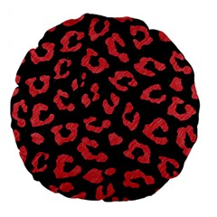 Skin5 Black Marble & Red Colored Pencil Large 18  Premium Flano Round Cushions by trendistuff