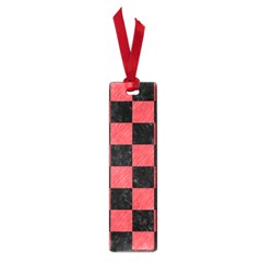Square1 Black Marble & Red Colored Pencil Small Book Marks by trendistuff
