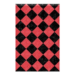 Square2 Black Marble & Red Colored Pencil Shower Curtain 48  X 72  (small)  by trendistuff