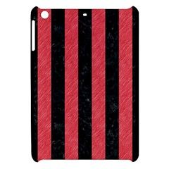 Stripes1 Black Marble & Red Colored Pencil Apple Ipad Mini Hardshell Case by trendistuff