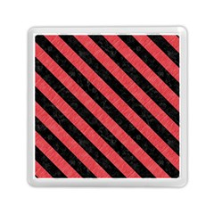 Stripes3 Black Marble & Red Colored Pencil Memory Card Reader (square)  by trendistuff
