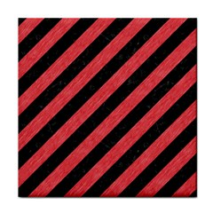 Stripes3 Black Marble & Red Colored Pencil (r) Face Towel by trendistuff
