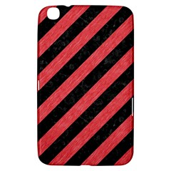 Stripes3 Black Marble & Red Colored Pencil (r) Samsung Galaxy Tab 3 (8 ) T3100 Hardshell Case  by trendistuff