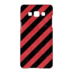 Stripes3 Black Marble & Red Colored Pencil (r) Samsung Galaxy A5 Hardshell Case  by trendistuff