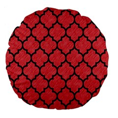 Tile1 Black Marble & Red Colored Pencil Large 18  Premium Flano Round Cushions by trendistuff