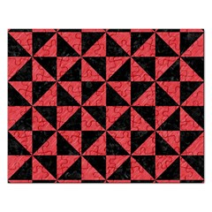 Triangle1 Black Marble & Red Colored Pencil Rectangular Jigsaw Puzzl by trendistuff