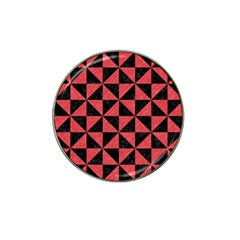 Triangle1 Black Marble & Red Colored Pencil Hat Clip Ball Marker by trendistuff
