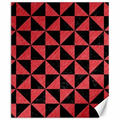 Triangle1 Black Marble & Red Colored Pencil Canvas 20  X 24   by trendistuff