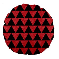 Triangle2 Black Marble & Red Colored Pencil Large 18  Premium Flano Round Cushions by trendistuff
