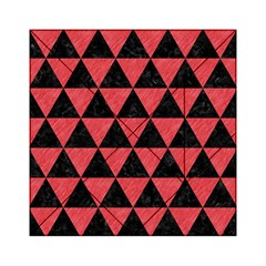 Triangle3 Black Marble & Red Colored Pencil Acrylic Tangram Puzzle (6  X 6 ) by trendistuff