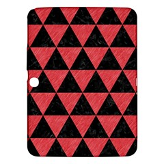 Triangle3 Black Marble & Red Colored Pencil Samsung Galaxy Tab 3 (10 1 ) P5200 Hardshell Case  by trendistuff