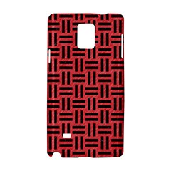 Woven1 Black Marble & Red Colored Pencil Samsung Galaxy Note 4 Hardshell Case by trendistuff