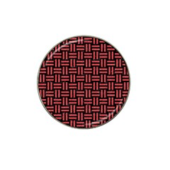 Woven1 Black Marble & Red Colored Pencil (r) Hat Clip Ball Marker (10 Pack) by trendistuff