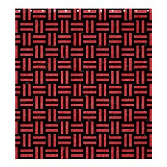 Woven1 Black Marble & Red Colored Pencil (r) Shower Curtain 66  X 72  (large)  by trendistuff