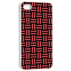 Woven1 Black Marble & Red Colored Pencil (r) Apple Iphone 4/4s Seamless Case (white) by trendistuff