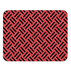 Woven2 Black Marble & Red Colored Pencil Double Sided Flano Blanket (large)  by trendistuff