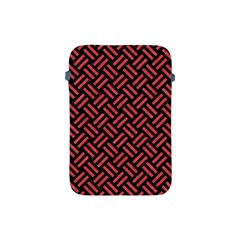 Woven2 Black Marble & Red Colored Pencil (r) Apple Ipad Mini Protective Soft Cases by trendistuff
