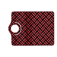 Woven2 Black Marble & Red Colored Pencil (r) Kindle Fire Hd (2013) Flip 360 Case by trendistuff
