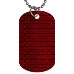 Brick1 Black Marble & Red Grunge Dog Tag (one Side) by trendistuff