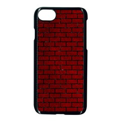 Brick1 Black Marble & Red Grunge Apple Iphone 7 Seamless Case (black) by trendistuff