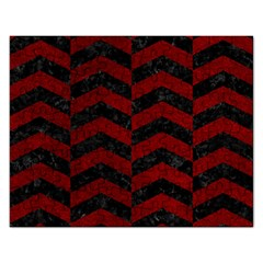 Chevron2 Black Marble & Red Grunge Rectangular Jigsaw Puzzl by trendistuff