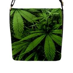 Marijuana Plants Pattern Flap Messenger Bag (l)  by dflcprints