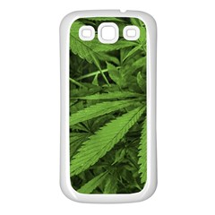 Marijuana Plants Pattern Samsung Galaxy S3 Back Case (white) by dflcprints