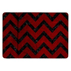 Chevron9 Black Marble & Red Grunge Samsung Galaxy Tab 8 9  P7300 Flip Case by trendistuff