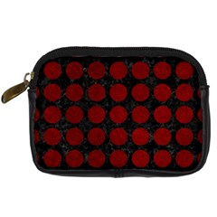 Circles1 Black Marble & Red Grunge (r) Digital Camera Cases by trendistuff