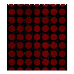 Circles1 Black Marble & Red Grunge (r) Shower Curtain 66  X 72  (large)  by trendistuff