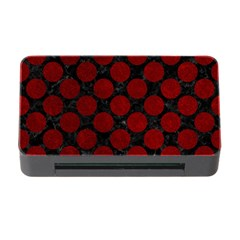 Circles2 Black Marble & Red Grunge (r) Memory Card Reader With Cf by trendistuff