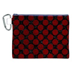 Circles2 Black Marble & Red Grunge (r) Canvas Cosmetic Bag (xxl) by trendistuff