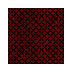 Circles3 Black Marble & Red Grunge Acrylic Tangram Puzzle (6  X 6 ) by trendistuff
