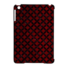 Circles3 Black Marble & Red Grunge Apple Ipad Mini Hardshell Case (compatible With Smart Cover) by trendistuff