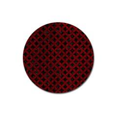 Circles3 Black Marble & Red Grunge (r) Magnet 3  (round) by trendistuff