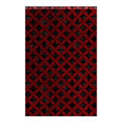 Circles3 Black Marble & Red Grunge (r) Shower Curtain 48  X 72  (small)  by trendistuff