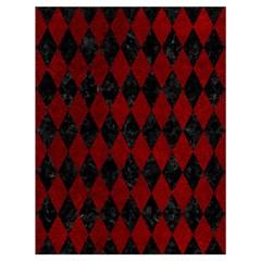 Diamond1 Black Marble & Red Grunge Drawstring Bag (large) by trendistuff