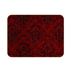 Damask1 Black Marble & Red Grunge Double Sided Flano Blanket (mini)  by trendistuff