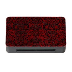 Damask2 Black Marble & Red Grunge Memory Card Reader With Cf by trendistuff