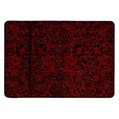 Damask2 Black Marble & Red Grunge Samsung Galaxy Tab 8 9  P7300 Flip Case by trendistuff