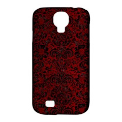 Damask2 Black Marble & Red Grunge Samsung Galaxy S4 Classic Hardshell Case (pc+silicone) by trendistuff