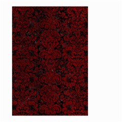 Damask2 Black Marble & Red Grunge (r) Small Garden Flag (two Sides) by trendistuff