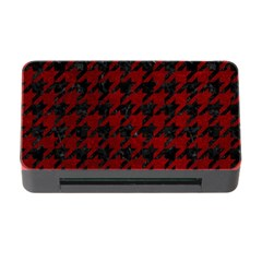 Houndstooth1 Black Marble & Red Grunge Memory Card Reader With Cf by trendistuff